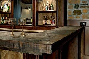 Custom basement bar rustic basement columbus by for Kitchen cabinet trends 2018 combined with bourbon barrel wall art