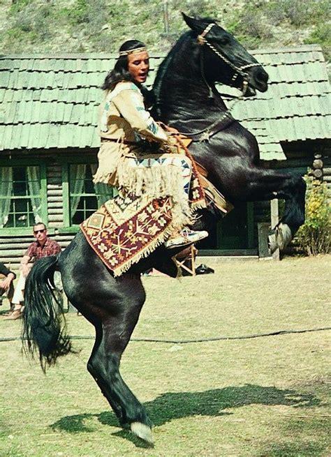 filmpferde winnetou und sein pferd iltschi bei cavallode