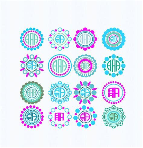 circle frame svg dotted scallopped svg monogram frames svg  dotted frames dxf svg eps png