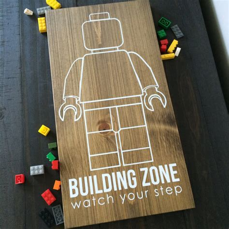 lego building zone kids room sign lego sign