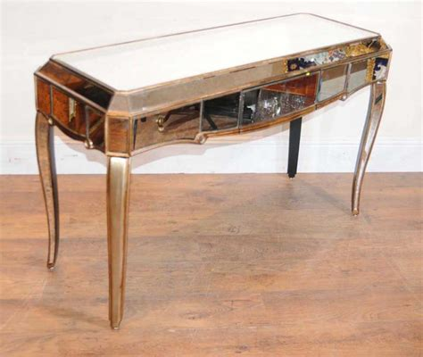deco mirrored dressing table desk bureau mirror