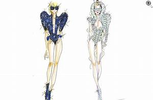 The gallery for --> Versace Sketches For Lady Gaga