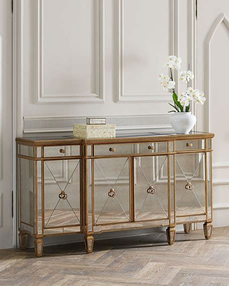 mirrored buffet tables amelie mirrored buffet neiman 4158