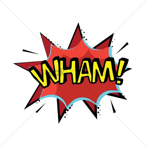 wham logo wham text with comic effect vector image 1823077