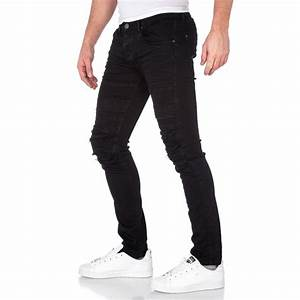 Jean Slim Noir Homme : jeans jean noir slim homme d chir ~ Voncanada.com Idées de Décoration