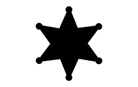 Star Badge Dxf File Free Download