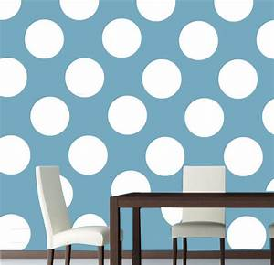 Polka circles wall decor : Wall decal decals polka dot stickers by modernwalldecal