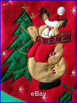 personalised embroidered christmas santa snowman reindeer