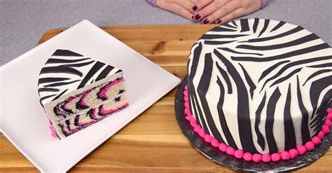 baking  easy  delicious pink zebra cake video