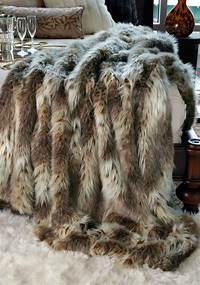 faux fur throw FRESH + TWIST : Decorating with Sheepskin & Faux Fur ...