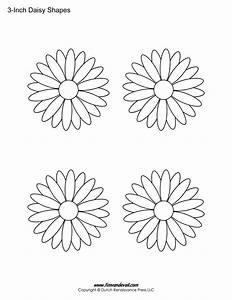 Free Printable Daisy Templates | Daisy Shape Flower PDFs