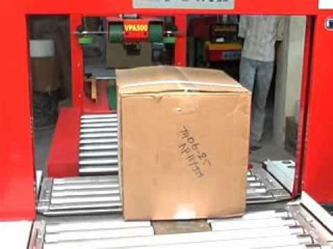 fully automatic taping strapping machine   youtube
