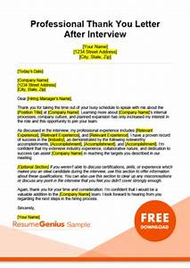 Resume Covering Letter Example Thank You Letter Samples Free Downloadable Templates