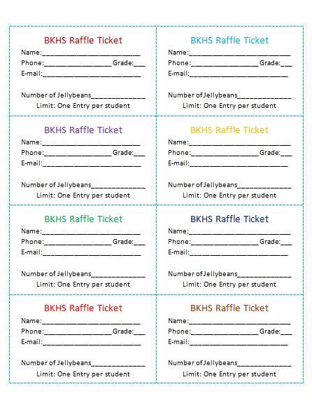 raffle ticket templates    raffle