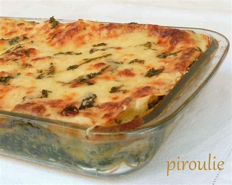 cuisiner epinard en boite lasagnes aux épinards et à la béchamel pâtisseries et gourmandises