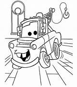Garage Coloring Mater Tow sketch template