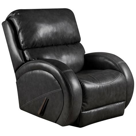 flash furniture contemporary bentley black leather rocker