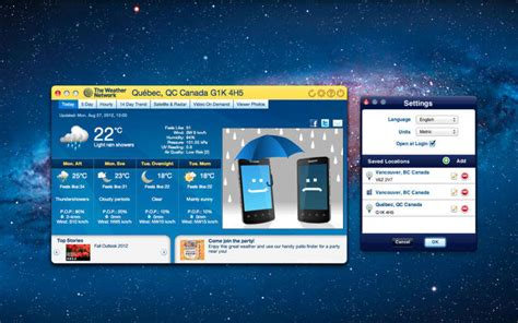 the weather network for mac
