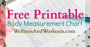 Free Printable Body Measurement Chart T Tapp Inspired
