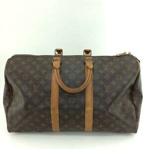 authentic louis vuitton monogram keepall  duffle bag lv