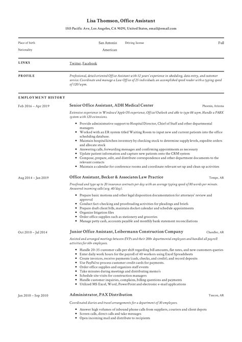 Detail oriented and productive environmental professional accomplished in leading and supporting environmental development, compliance, policy. Office Assistant Resume + Writing Guide | 12 Resume TEMPLATES | 2020