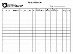 Reservation Log Templates