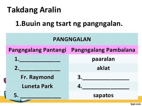 pambalana at pantangi worksheet for grade 4 ourclipart