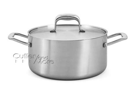 usa  tri ply stainless steel stock pot  quart cutlery