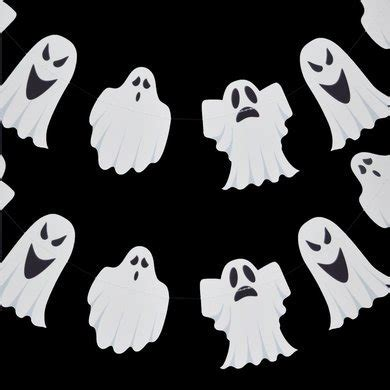 4th wedding anniversary gifts ghosts paper garland banner 10ft on sale now decorations at the best