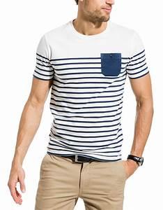 T Shirt Mariniere Homme : t shirt mariniere brice ~ Melissatoandfro.com Idées de Décoration