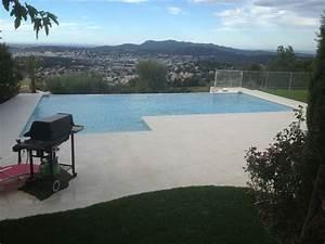 Beton Ciré Piscine : construction piscine b ton marinal rectangulaire d bordement avec plage californienne en l ~ Melissatoandfro.com Idées de Décoration