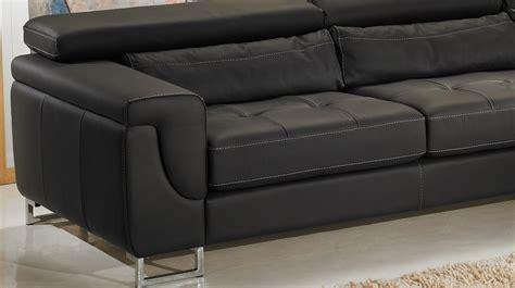 canapé 4 place canapé d 39 angle gauche cuir noir pas cher