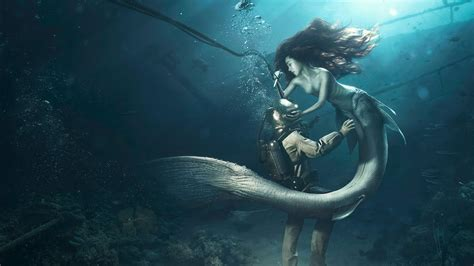 diver   mermaid wallpapers hd wallpapers id