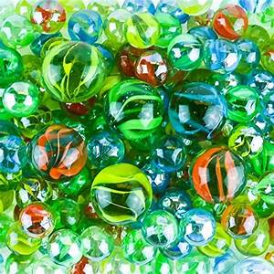 Kiddie Play 200 Glass Marbles For Kids Bulk Including 6