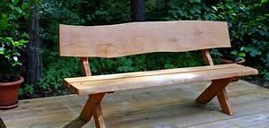 Gartenbank Aus Holz Rustikal Massiv