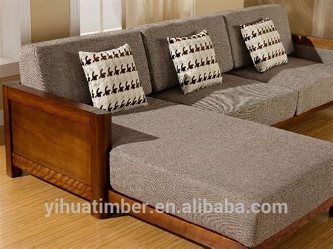 source latest design wooden sofa furniture living room