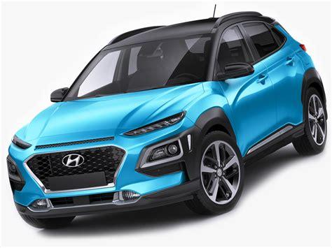 Hyundai Model by Hyundai Kona 2018 3d Model Turbosquid 1186963