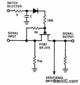 switches jfet audio switch does not work in simulation With differential analog switch circuit diagram