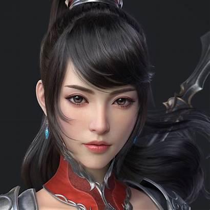 Fantasy Digital Asian Hair Face Dark Huifeng