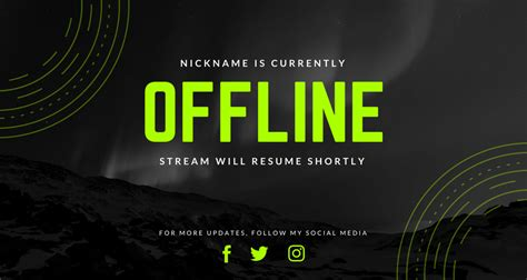 banner twitch offline template streamer social nickname currently templates unaaha canva icon kurir necessary detox banners neon updated customize cantha