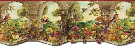 Wallpaper Of Border by Kitchen Arch Birds Wallpaper Border Mural Ks76858dll Ebay