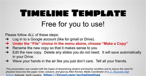 Google Docs Timeline Template - Google Slides