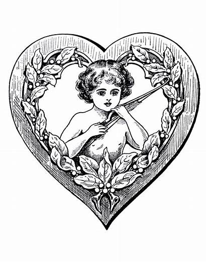 Coloring Pages Adults Heart Drawing Cupidon Angel