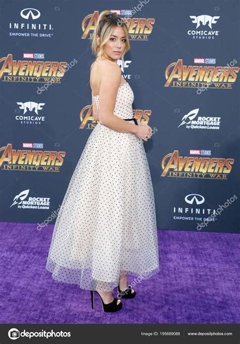 actress chloe bennet premiere disney marvel avengers