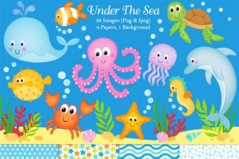 Under The Sea Clipart, Under The Sea Graphics & Illustration