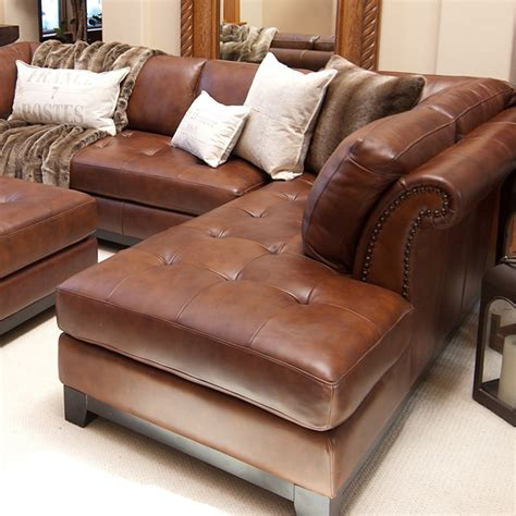 sectional with chaise and ottoman corsario leather sectional with right facing chaise and