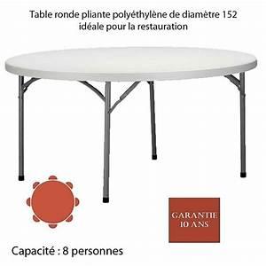 Table Ronde 8 Personnes : table ronde pliante poly thyl ne planet150 diam 152 ~ Teatrodelosmanantiales.com Idées de Décoration