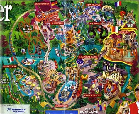 Busch Gardens Ta Directions by Busch Gardens Williamsburg 2001 Theme Park Maps