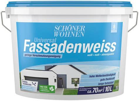 Schöner Wohnen Hybrid Fassadenfarbe by Sch 246 Ner Wohnen Farbe Hybrid Fassadenfarbe 187 10 0l Weiss
