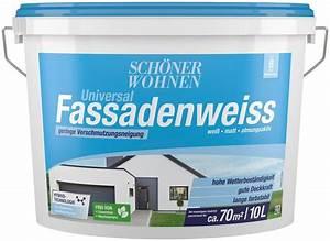Schöner Wohnen Weiß : sch ner wohnen farbe hybrid fassadenfarbe 10 0l weiss online kaufen otto ~ Watch28wear.com Haus und Dekorationen